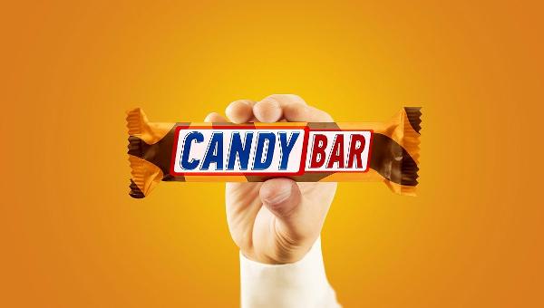 Candy Bar Wrapper Mockup