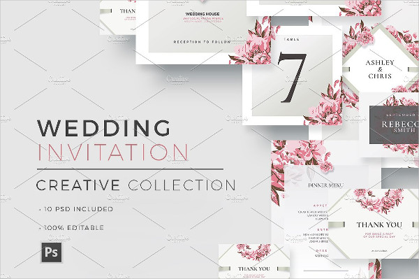 PSD Creative Invitations Collection