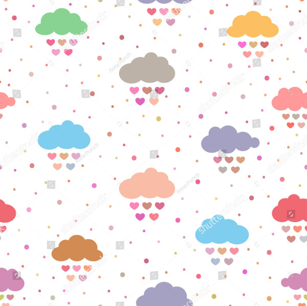 Cute seamless Pattern of Clouds