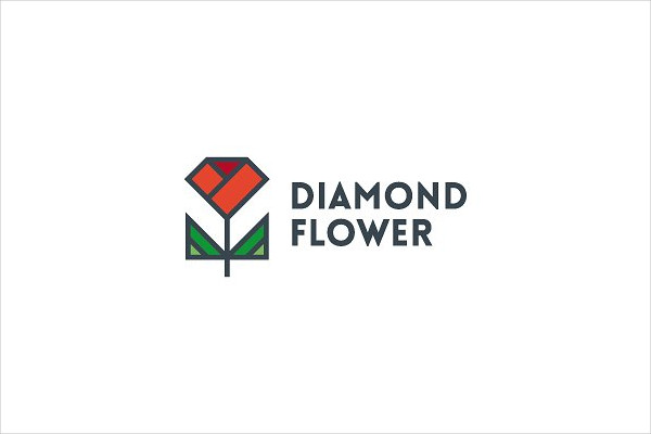 Diamond Flower Logo Template