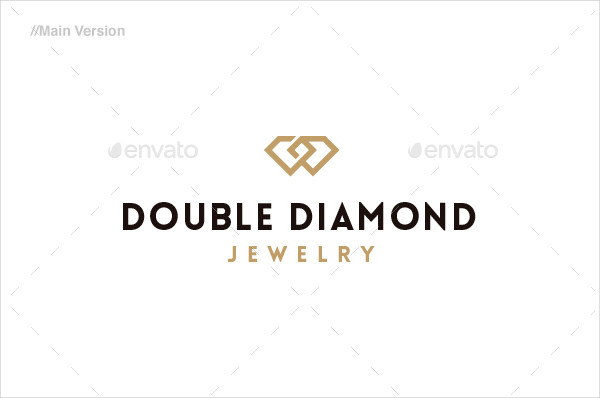 Double Diamond Jewelry Store Logo