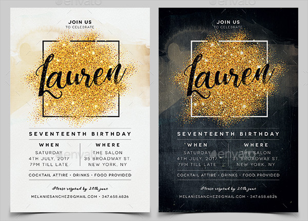 Elegant Invitation Design for Birthday