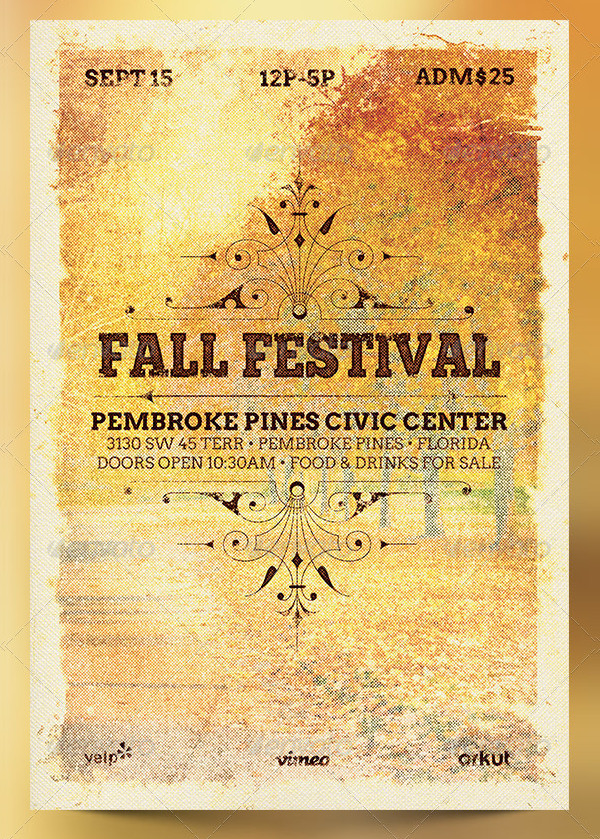 Fall Festival Poster Photoshop Design