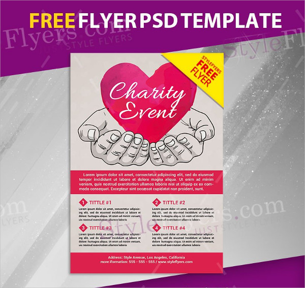 Free PSD Donation Flyer Template