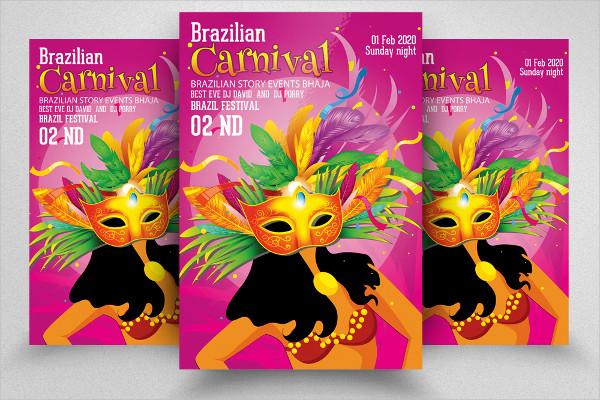 PSD Mardi Gras Flyer Design