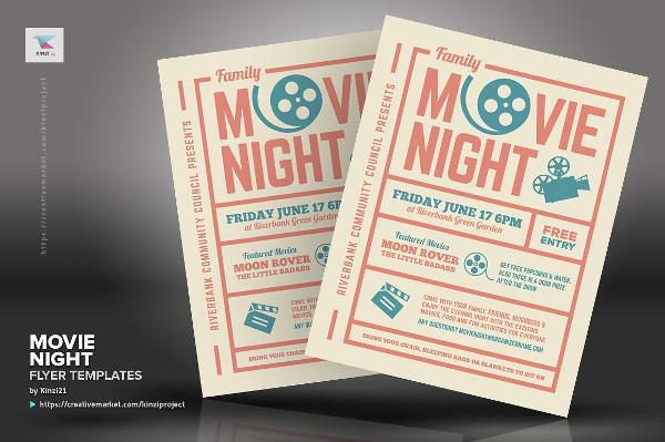 Printable Movie Night Flyer Templates