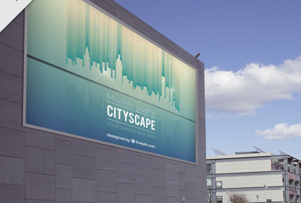 Outdoor Billboard of Cityscape Free PSD