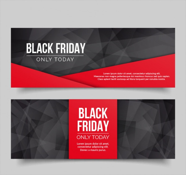 Free Polygonal Banners for Black Friday