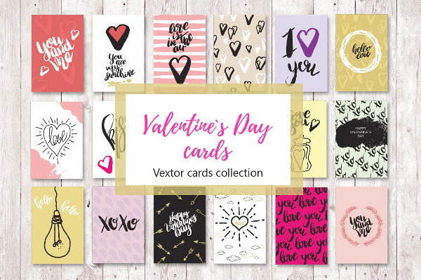 Set of 18 Love Greeting Cards