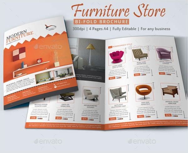 Stylish Furniture Store Brochures Design