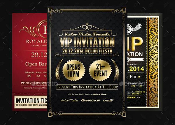 VIP Invitations Bundle PSD