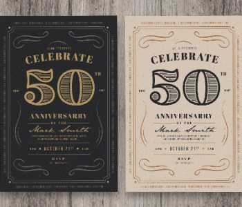 Vintage Invitations Design