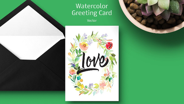 Watercolor Greeting Card Ideas