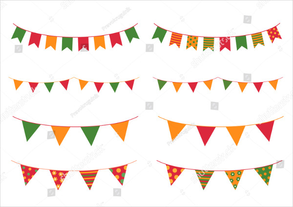 Colorful Buntings Banner Design
