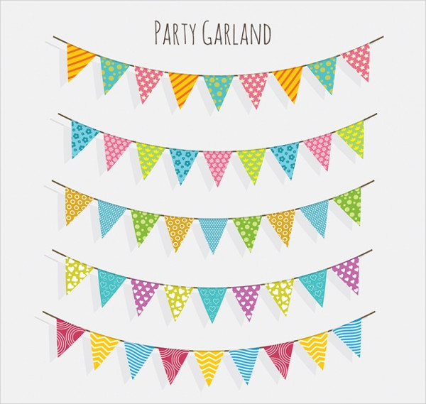 Party Bunting Banners Collection Free