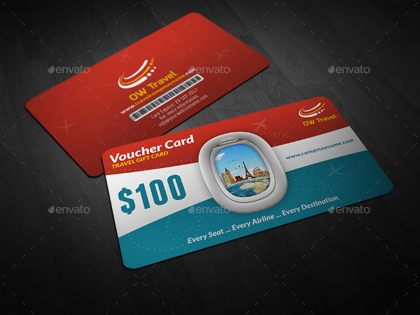 Printable Travel Gift Card Template