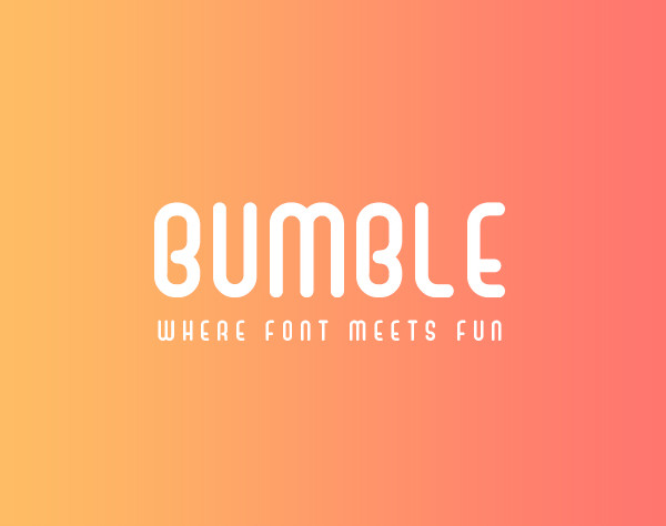 Bumble Playful Sans Serif Cartoon Fonts