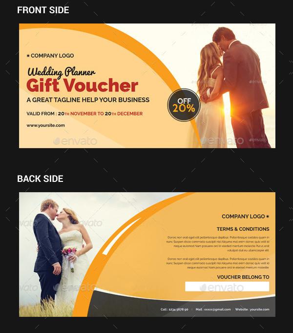 Editable Wedding Planner Gift Voucher
