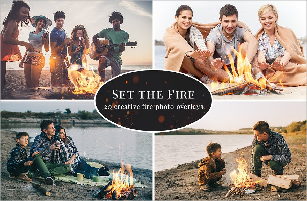 Set the Fire Photo Overlays