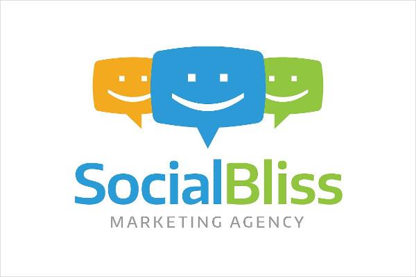 Social Media Marketing Agency Logo Template