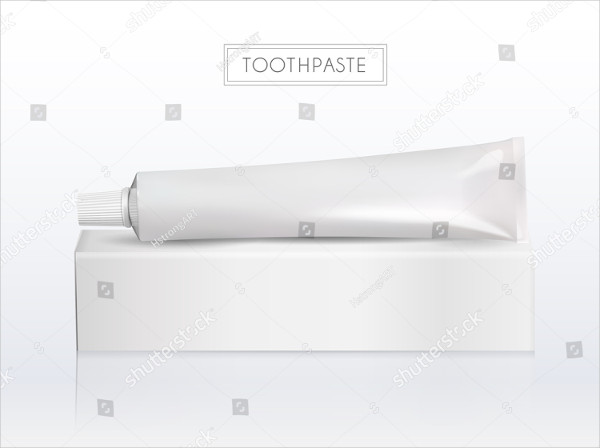 Blank Toothpaste Tube Mock-Up