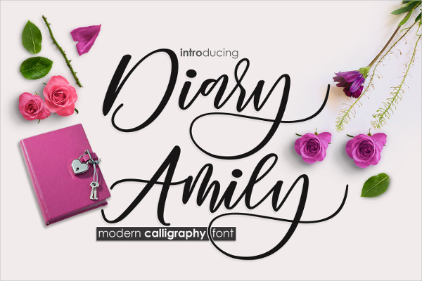 Diary Amily Fancy Fonts