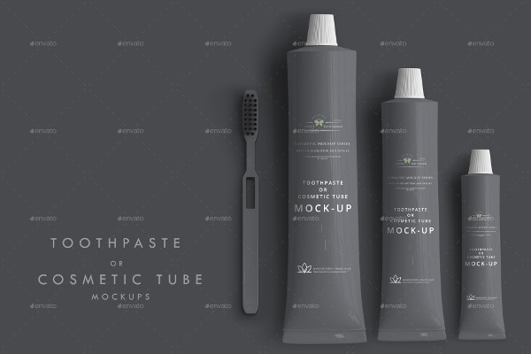 Toothpaste or Cosmetic Tube Mock-up