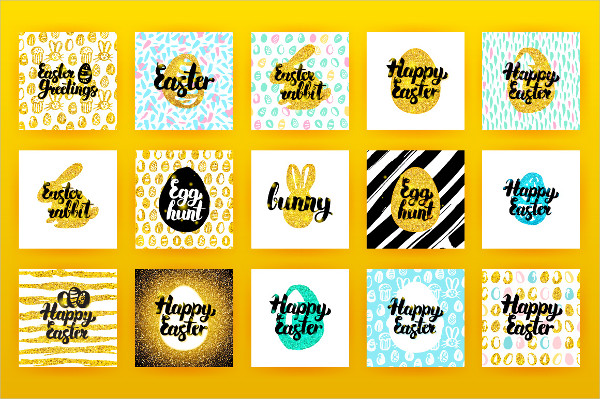 Easter Postcards Vector