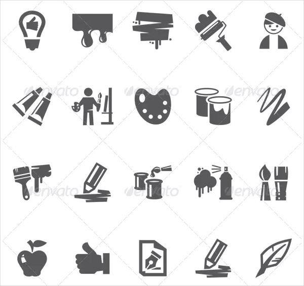 Editable Art Icon Collection