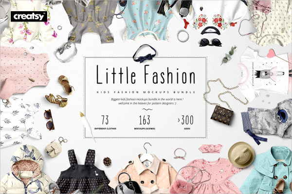 Little Fashion Apparel Mockups Bundle