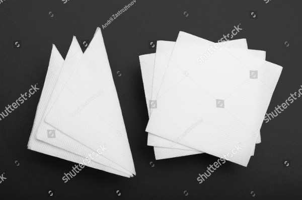 Top View Napkin Mock-Up