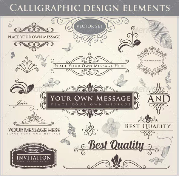 Classic Calligraphic Designs Set