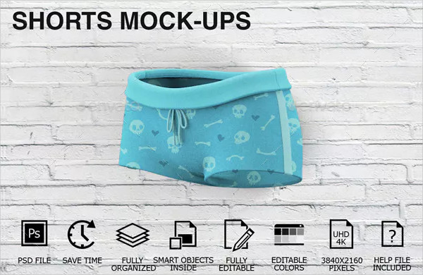 Customizable Shorts Mockups