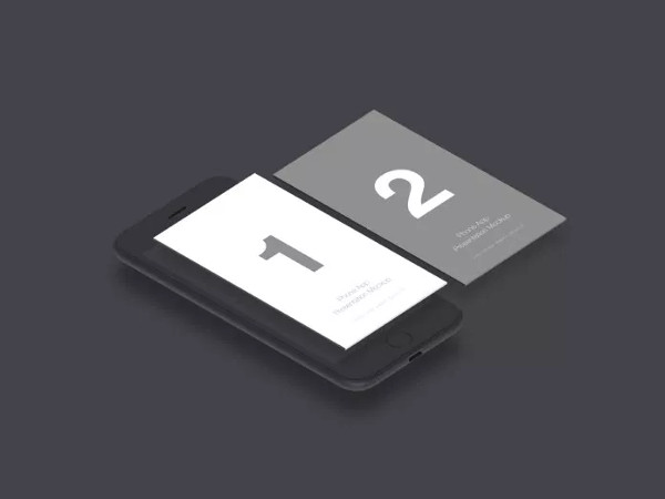 Free PSD Mobile App Mock-Up