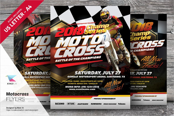 Motocross Flyer Templates