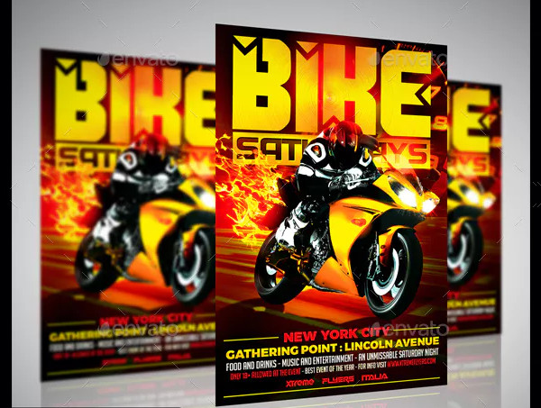 PSD Motorcycle Flyer Template