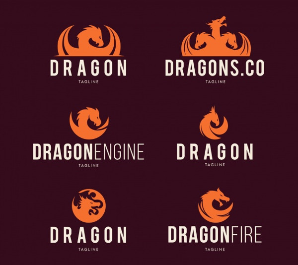 Collection of Dragon Logos Free Download