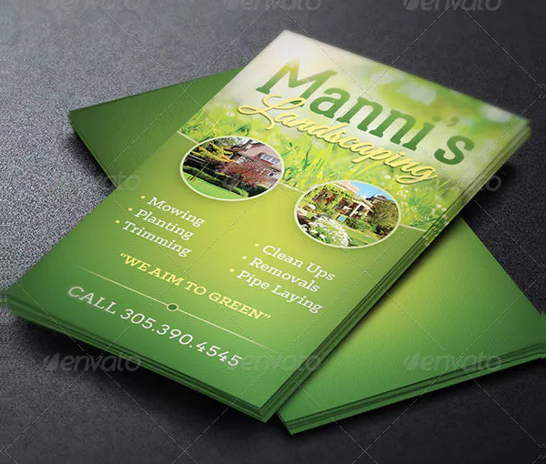 Landscaping Business Card Template 23 Free Premium Download