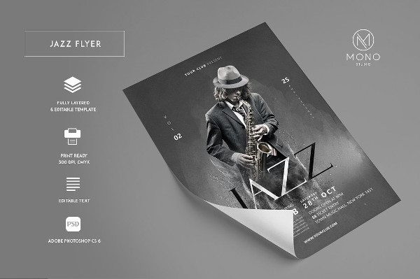 Funky Jazz Flyer Design