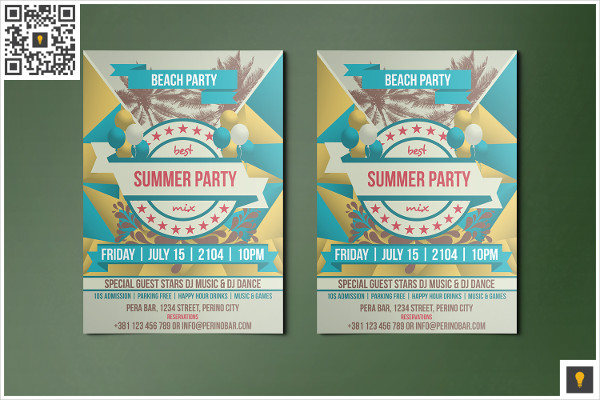 Funky Summer Party Flyer