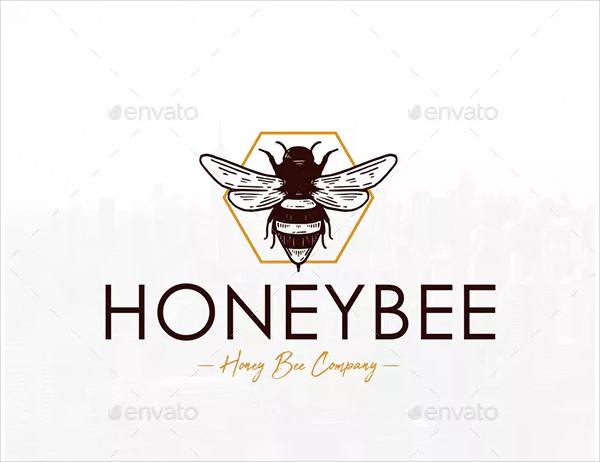 Honey Bee Vintage Logo