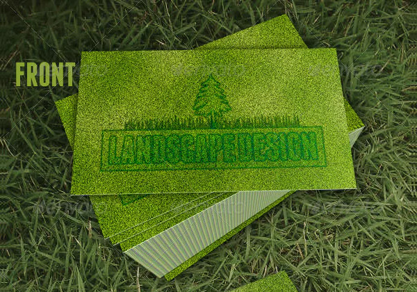 Printable Landscaping Business Card Design
