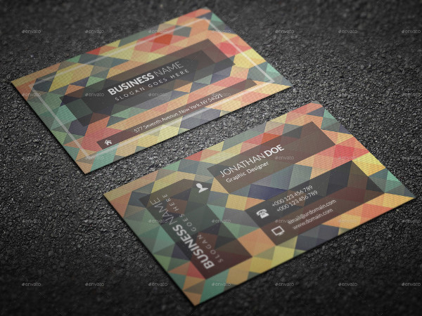 Printable Polygonal Business Card