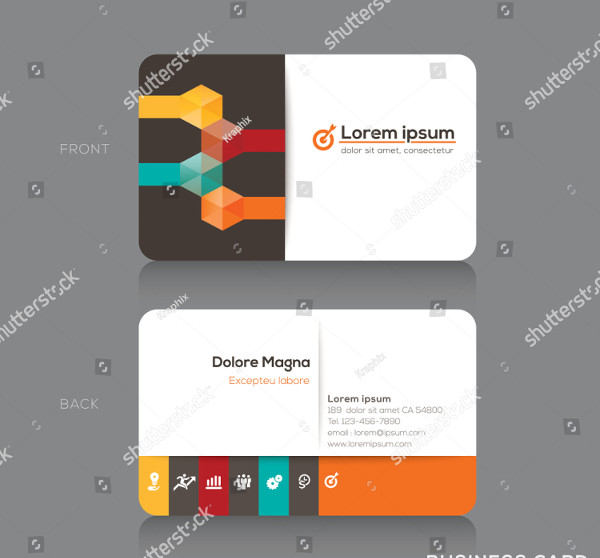 Trendy Isometric Business cards Design