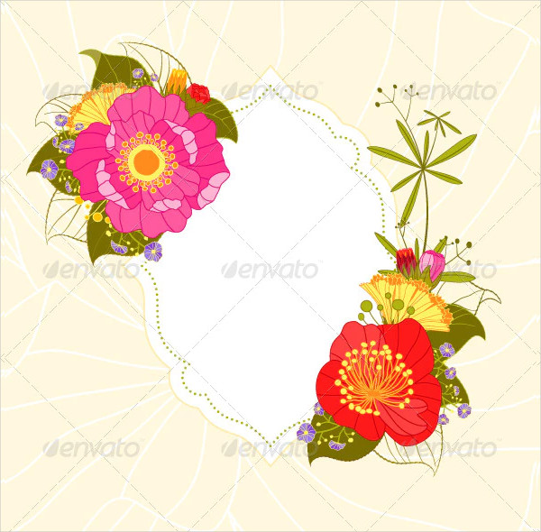 Colorful Flower Garden Party Invitation Card
