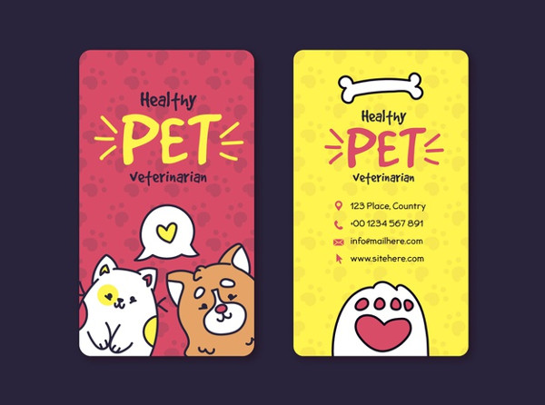 Corporate Pet Store Business Card