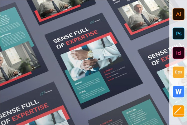 Attractive Consulting Business Flyer Template