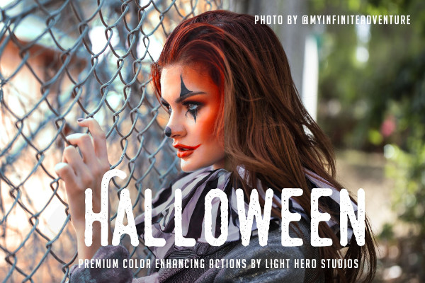 24 Halloween Photoshop Actions