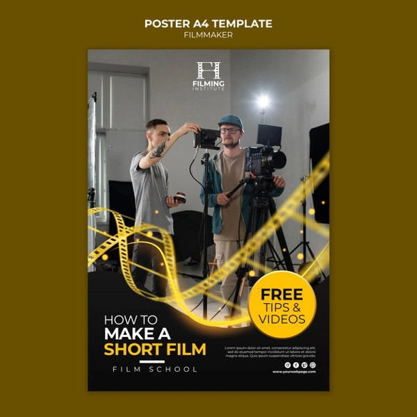 Free Filmmaker Poster in Unique Style