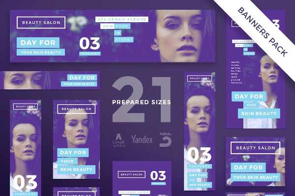 Beauty Courses Banners Template